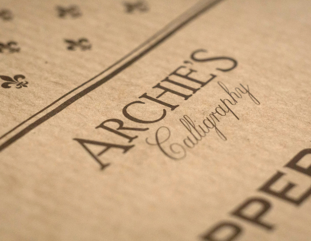 Archies calligraphy blok do kaligrafii copperplate 6 4 6