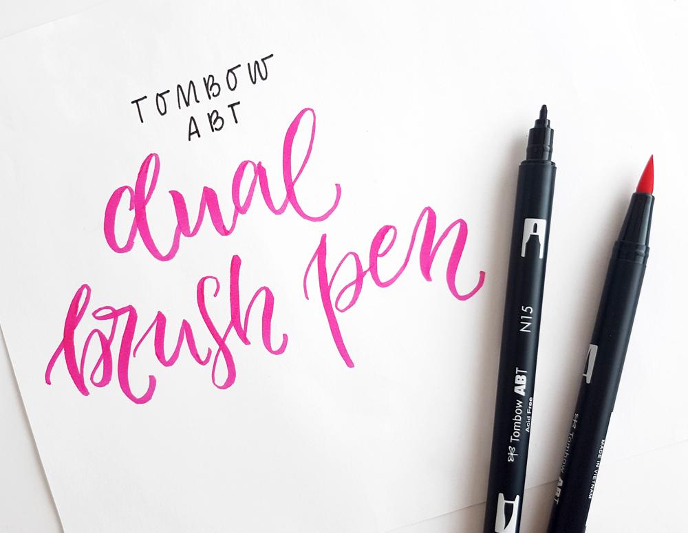 Tombow ABT Dual Brush Pen Tan Calligrafun - Tombow abt