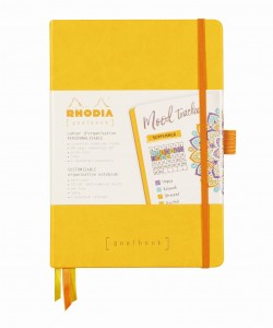 Rhodia Rhodiarama Goalbook A5 - Daffodil yellow - ivory dotted sheets