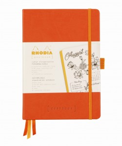 Rhodia Rhodiarama Goalbook A5 - Tangerine - ivory dotted sheets