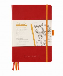 Rhodia Rhodiarama Goalbook A5 - Poppy - ivory dotted sheets