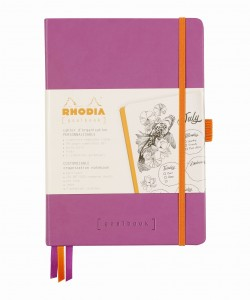 Rhodia Rhodiarama Goalbook A5 - Lilac - ivory dotted sheets