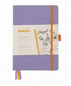 Rhodia Rhodiarama Goalbook A5 - Iris - ivory dotted sheets
