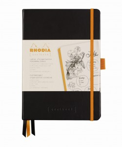 Rhodia Rhodiarama Goalbook A5 - Black - ivory dotted sheets