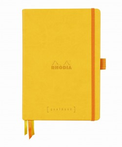 Rhodia Rhodiarama Goalbook A5 - Daffodil yellow - white dotted sheets