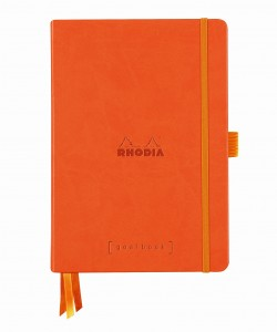 Rhodia Rhodiarama Goalbook A5 - Tangerine - white dotted sheets