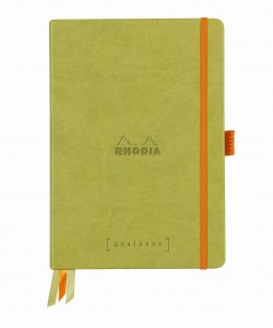 Rhodia Rhodiarama Goalbook A5 - Anise green - white dotted sheets