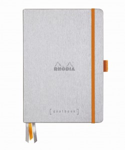 Rhodia Rhodiarama Goalbook A5 - Silver - white dotted sheets