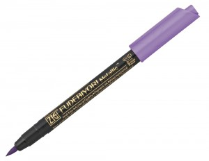ZIG Fudebiyori Metallic Brush Pen - 124 Violet