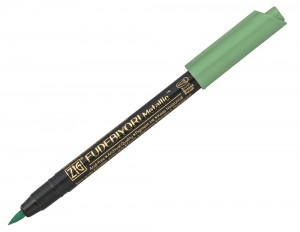 Kuretake ZIG Fudebiyori Metallic Brush Pen - 121 Green