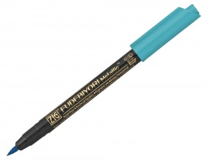 ZIG Fudebiyori Metallic Brush Pen - 125 Blue