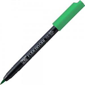 Kuretake ZIG Fudebiyori Brush Pen - 048 emerald green