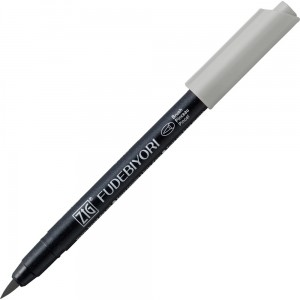 Kuretake ZIG Fudebiyori Brush Pen - 091 light gray