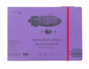 SMLT Ingres Sketch Album #authenticbook z gumką - 24 ark.