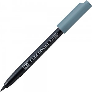 Kuretake ZIG Fudebiyori Brush Pen - 092 blue gray