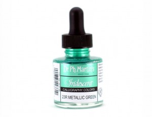 Iridescent Calligraphy Color 29,6 ml - Metallic Green