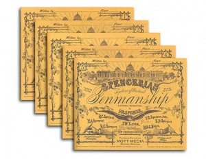 Spencerian Penmanship - set of 5 copybooks