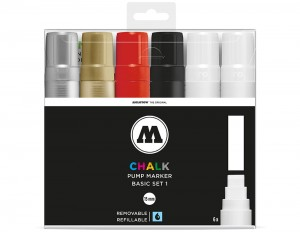 Molotow Chalk Marker 15 mm - set of 6