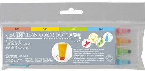 ZIG Clean Color Dot - 4 Colors Set