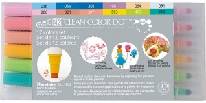 ZIG Clean Color Dot - 12 Colors Set