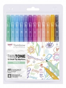 TwinTone Dual-Tip Markers - Pastels - 12 pcs.