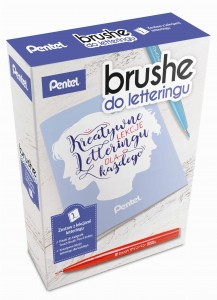 Zestaw do brush letteringu Pentel - Basic - ABCD