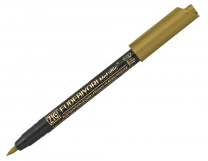 Kuretake ZIG Fudebiyori Metallic Brush Pen - 101 Gold