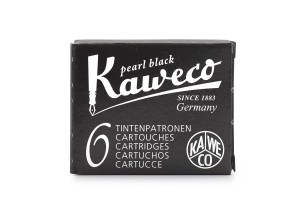 Kaweco Ink Cartridges - pack of 6 - Pearl Black