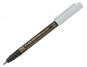 ZIG Fudebiyori Metallic Brush Pen - 102 Silver