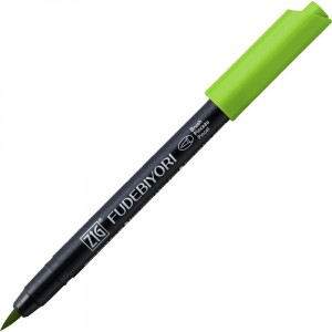 Kuretake ZIG Fudebiyori Brush Pen - 041 light green