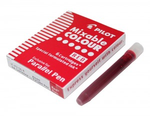 Parallel Pen Refill - 6 Red Cartridges