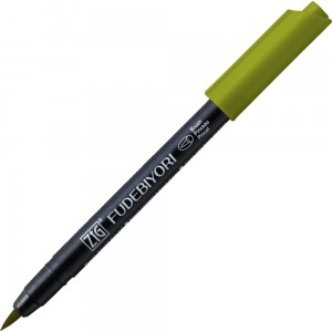 Kuretake ZIG Fudebiyori Brush Pen - 043 olive green