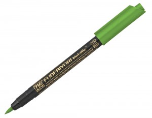 Kuretake ZIG Fudebiyori Metallic Brush Pen - 128 Light Green