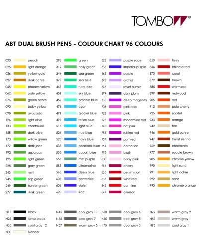 Tombow Abt Dermatologically Tested Colours Set 6 Pcs Calligrafun